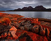 landscapes stock photography   The Hazards at Sunset, Coles Bay, Freycinet National Park, Tasmania (TAS), Australia, Image ID TAS-COLES-BAY-0001. Golden sunset at the Coles Bay, Tasmania. Coles Bay sits at the foot of the granite mountains known as The Hazards and on the edge of the world-renowned Freycinet National Park and Wineglass Bay.