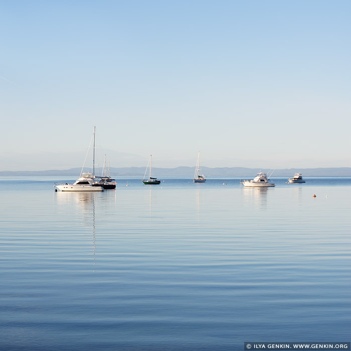 landscapes stock photography | Calm Morning at Coles Bay, Freycinet National Park, Tasmania (TAS), Australia, Image ID TAS-COLES-BAY-0002