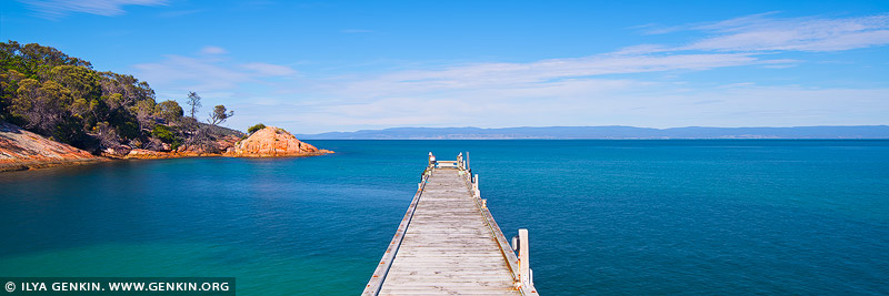 landscapes stock photography | Coles Bay Jetty, Freycinet National Park, Tasmania (TAS), Australia, Image ID TAS-COLES-BAY-0003