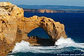 landscapes stock photography | The Arch at Sunset, The Twelve Apostles, Great Ocean Road, Port Campbell National Park, Victoria, Australia, Image ID APOST-0007.