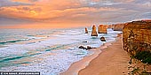 landscapes stock photography | Sunrise at The Twelve Apostles, The Twelve Apostles, Great Ocean Road, Port Campbell National Park, Victoria, Australia, Image ID APOST-0030. Sunrise at The Twelve Apostles along the Great Ocean Road in Victoria, Australia after a storm.