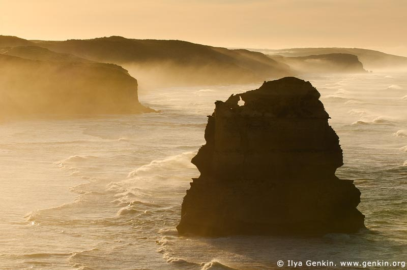 landscapes stock photography | Early Morning Mist at Twelve Apostles, Great Ocean Road, Port Campbell National Park, Victoria, Australia, Image ID APOST-0004