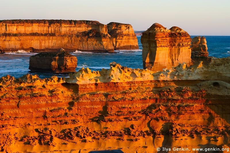 landscapes stock photography | Sunset at Razorback, The Twelve Apostles, Great Ocean Road, Port Campbell National Park, Victoria, Australia, Image ID APOST-0006
