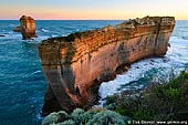 landscapes stock photography | Sunset at Razorback, The Twelve Apostles, Great Ocean Road, Port Campbell National Park, Victoria, Australia, Image ID APOST-0009.