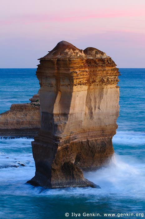 landscapes stock photography | Apostles near Razorback after Sunset, The Twelve Apostles, Great Ocean Road, Port Campbell National Park, Victoria, Australia, Image ID APOST-0010