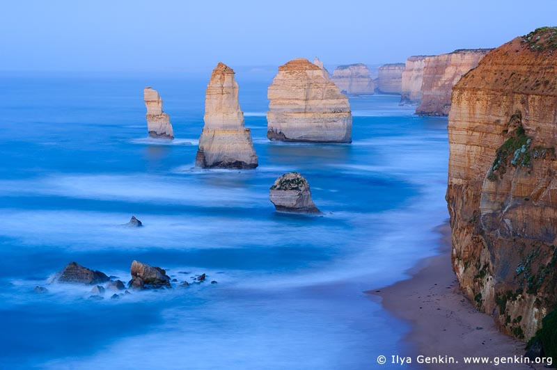 landscapes stock photography | The Twelve Apostles Before Sunrise, The Twelve Apostles, Great Ocean Road, Port Campbell National Park, Victoria, Australia, Image ID APOST-0011