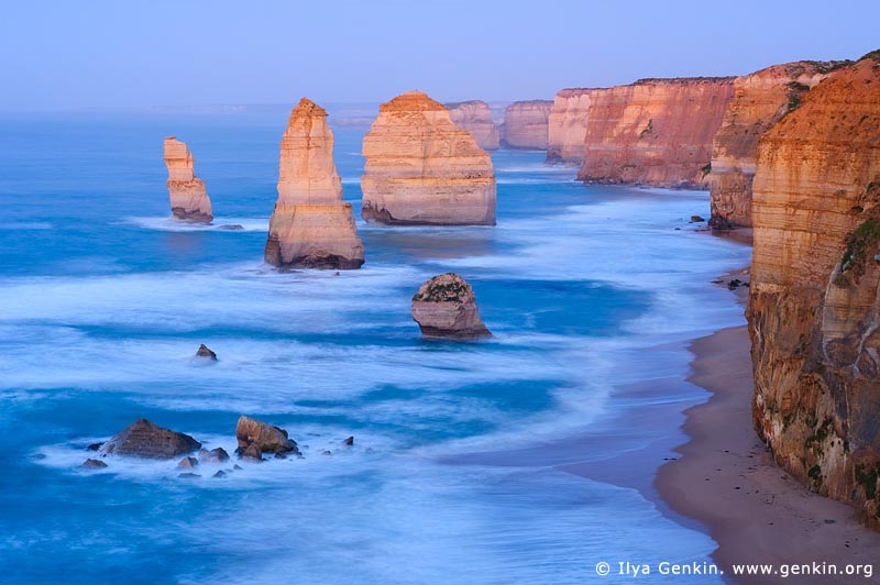 landscapes stock photography | The Twelve Apostles at Dawn, The Twelve Apostles, Great Ocean Road, Port Campbell National Park, Victoria, Australia, Image ID APOST-0012