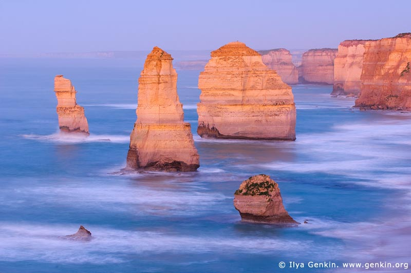 landscapes stock photography | The Twelve Apostles at Twilight, The Twelve Apostles, Great Ocean Road, Port Campbell National Park, Victoria, Australia, Image ID APOST-0013