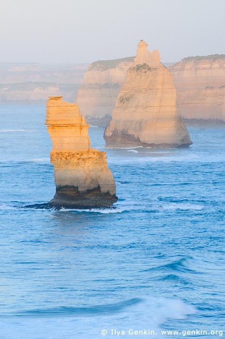landscapes stock photography | The Twelve Apostles at Sunrise, The Twelve Apostles, Great Ocean Road, Port Campbell National Park, Victoria, Australia, Image ID APOST-0014