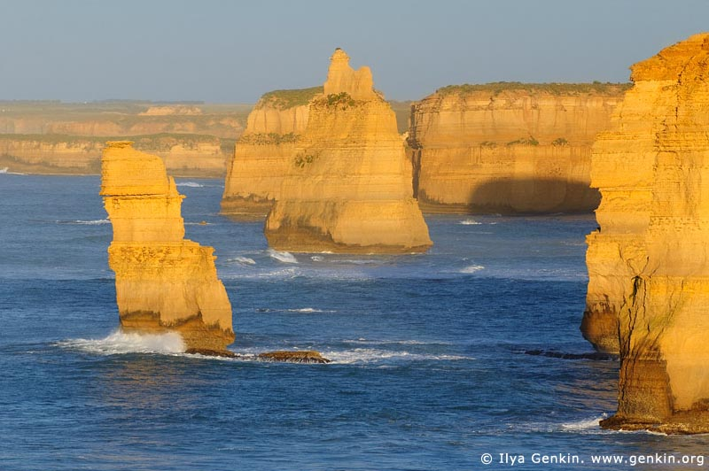 landscapes stock photography | The Twelve Apostles at Sunrise, The Twelve Apostles, Great Ocean Road, Port Campbell National Park, Victoria, Australia, Image ID APOST-0016