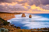 landscapes stock photography | The Gibson Steps at Sunset, The Twelve Apostles, Great Ocean Road, Port Campbell National Park, Victoria, Australia, Image ID APOST-0022. The Gibson Steps are an area of cliffs on the south coast of Australia. The cliffs are the first sightseeing stopoff in Port Campbell National Park for travellers heading West along the Great Ocean Road, located about 2 minutes drive from The Twelve Apostles. The name Gibson Steps refers to the staircase leading down to the stretch of beach shown to the right.