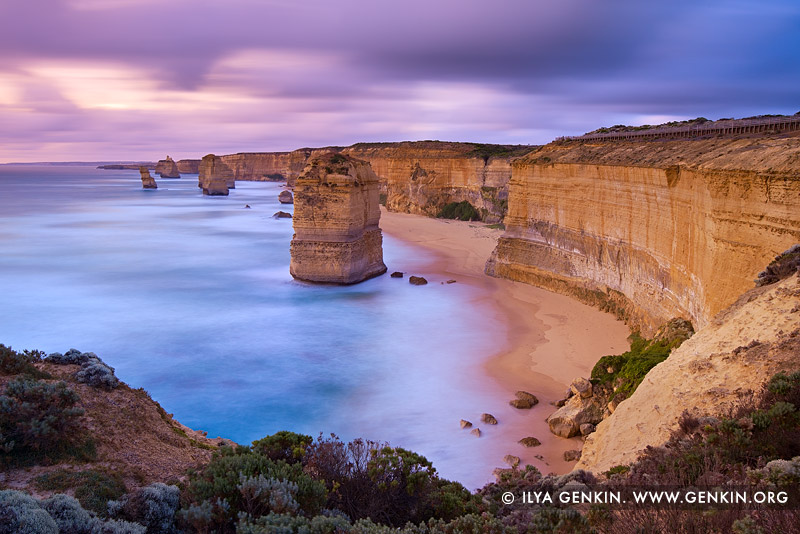landscapes stock photography | The Twelve Apostles at Sunset, The Twelve Apostles, Great Ocean Road, Port Campbell National Park, Victoria, Australia, Image ID APOST-0024