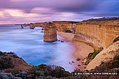 landscapes stock photography | The Twelve Apostles at Sunset, The Twelve Apostles, Great Ocean Road, Port Campbell National Park, Victoria, Australia, Image ID APOST-0024. Stunning summer sunset over the beautiful Shipwreck Coast at the Twelve Apostles on the Great Ocean Road in Port Campbell National Park, Victoria, Australia.