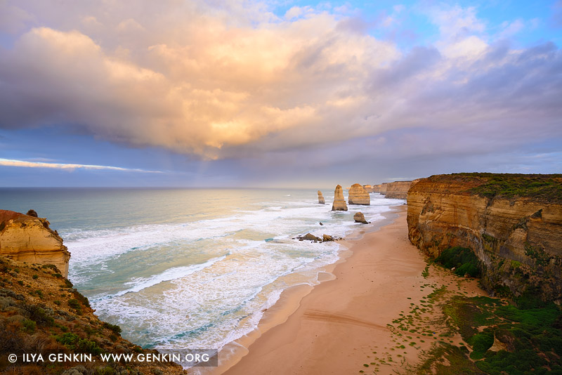 landscapes stock photography | Storm Clearing at The Twelve Apostles, The Twelve Apostles, Great Ocean Road, Port Campbell National Park, Victoria, Australia, Image ID APOST-0029