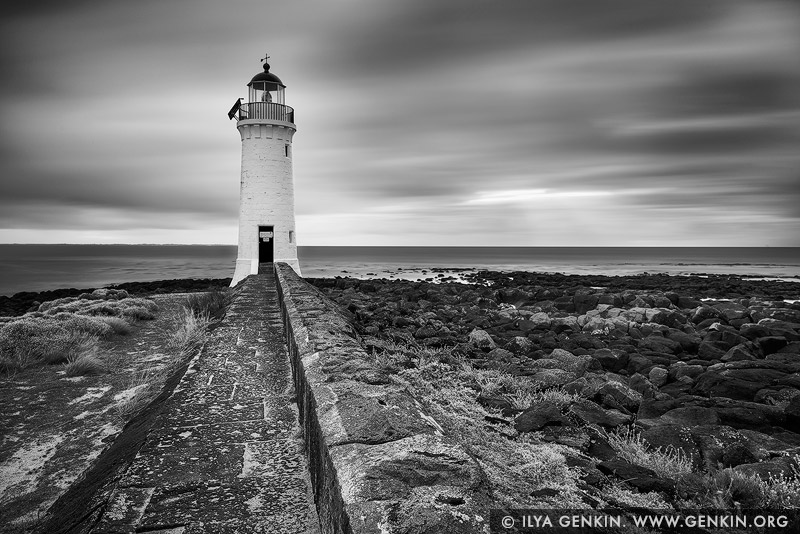 landscapes stock photography | Port Fairy Lighthouse, Port Fairy, Victoria (VIC), Australia, Image ID AU-PORT-FAIRY-LIGHTHOUSE-0001