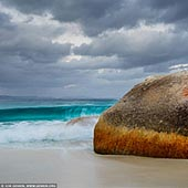 landscapes stock photography | Stormy Day at Little Beach, Two Peoples Bay Nature Reserve, Western Australia (WA), Australia, Image ID AU-WA-LITTLE-BEACH-BEACH-0003. Little Beach is a beautiful white beach in the Two Peoples Bay Nature Reserve, 35 kilometres east of Albany. Little Beach is one of the most beautiful beaches on the south-west coast. Beautiful turquoise waters, white sand and large waves make Little Beach a must-see for travellers to the region.