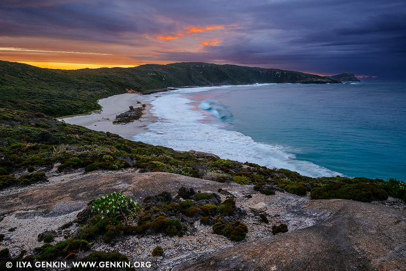 landscapes stock photography | Cable Beach at Sunrise, Torndirrup, Western Australia (WA), Australia, Image ID AU-WA-ALBANY-CABLE-BEACH-0001