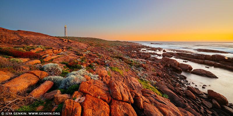 landscapes stock photography | Cape Leeuwin Lighthouse at Sunset, Augusta, South-West Coast, Western Australia (WA), Australia, Image ID AU-WA-CAPE-LEEUWIN-LIGHTHOUSE-0002