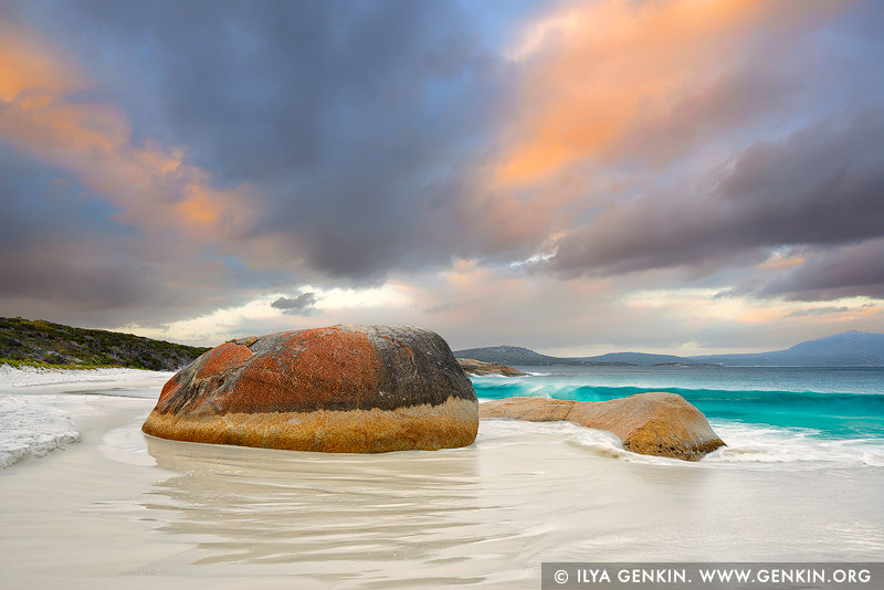 landscapes stock photography | Little Beach and Mt Gardner at Dusk, Two Peoples Bay Nature Reserve, Western Australia (WA), Australia, Image ID AU-WA-LITTLE-BEACH-BEACH-0002