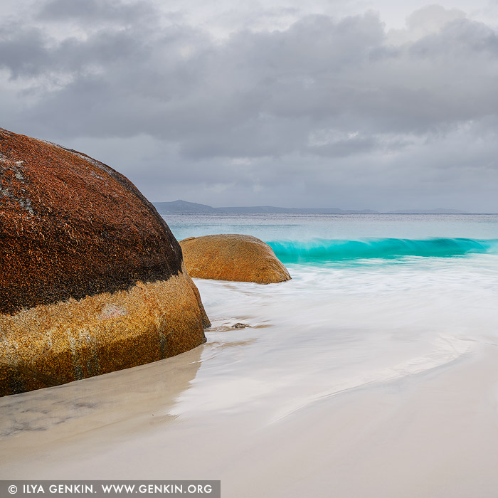 landscapes stock photography | Stormy Day at Little Beach, Two Peoples Bay Nature Reserve, Western Australia (WA), Australia, Image ID AU-WA-LITTLE-BEACH-BEACH-0004
