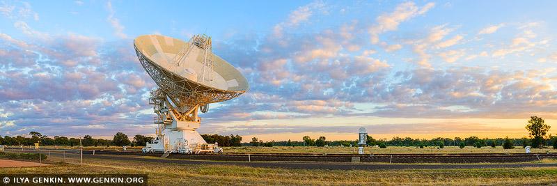 landscapes stock photography | Australia Telescope Compact Array at Sunrise, Narrabri, NSW, Australia, Image ID AU-NARRABRI-ATCA-0001
