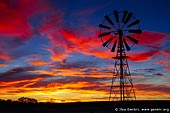 landscapes stock photography | Windmill at Sunset, Tibooburra, New South Wales (NSW), Australia, Image ID AU-NSW-WINDMILL-SUNSET-0001. Magnificent photo of the dramatic clouds highlighted by sunset over windmill near Tibooburra, NSW.