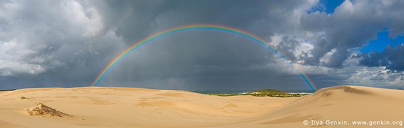 Rainbow at Dark Point, Myall Lake National Park, NSW, Australia