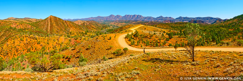 landscapes stock photography | Bunyeroo Valley from Razorback Lookout, Flinders Ranges, SA, Australia, Image ID AU-SA-FLINDERS-0011
