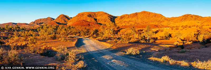 landscapes stock photography | The Bunkers and Wilkawillina Gorge at Sunset, Ikara-Flinders Ranges National Park, SA, Australia, Image ID AU-SA-FLINDERS-0023