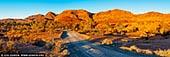 landscapes stock photography | The Bunkers and Wilkawillina Gorge at Sunset, Ikara-Flinders Ranges National Park, SA, Australia, Image ID AU-SA-FLINDERS-0023. Panoramic image of The Bunkers and Wilkawillina Gorge at Sunset in Ikara-Flinders Ranges National Park, SA, Australia.