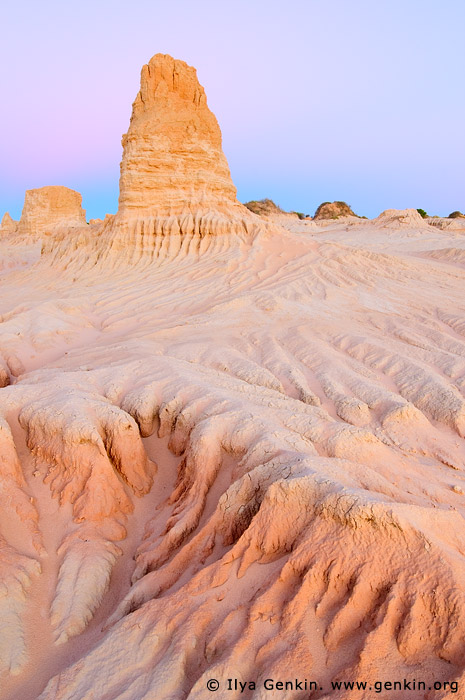 The Walls of China (Lunette) at Dusk, Mungo National Park, NSW, Australia