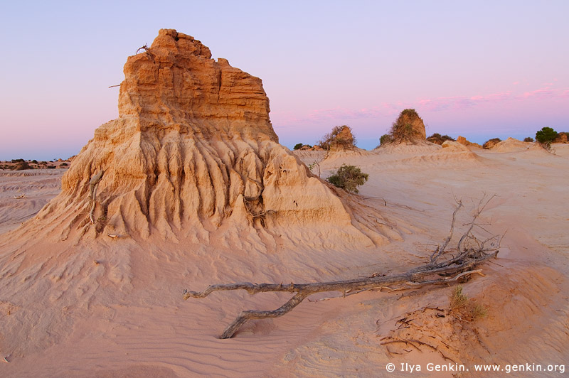 landscapes stock photography | The Walls of China (Lunette) at Dusk, Mungo National Park, NSW, Australia, Image ID AU-MUNGO-0005