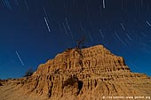 landscapes stock photography | Star Trails and The Walls of China (Lunette), Mungo National Park, NSW, Australia, Image ID AU-MUNGO-0006.
