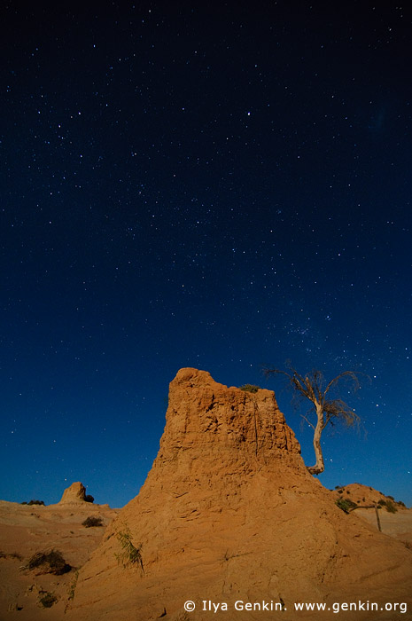 landscapes stock photography | Star and The Walls of China (Lunette), Mungo National Park, NSW, Australia, Image ID AU-MUNGO-0007