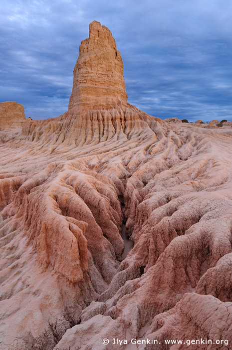 landscapes stock photography | The Walls of China (Lunette) at Dusk, Mungo National Park, NSW, Australia, Image ID AU-MUNGO-0011