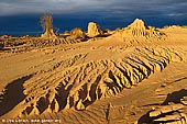 landscapes stock photography | The Walls of China at Sunset, Mungo National Park, NSW, Australia, Image ID AU-MUNGO-0014. Last rays of sunset highlighted sand formations called the Walls of China (Lunette) in Mungo National Park, NSW, Australia.
