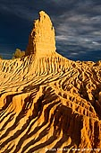 landscapes stock photography | Storm Clearing at Sunset at The Walls of China, Mungo National Park, NSW, Australia, Image ID AU-MUNGO-0015. Stock image of the rugged sand formations the Walls of China (Lunette) in Mungo National Park, NSW, Australia over clearing stormy sky at sunset.