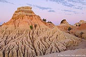 landscapes stock photography | The Walls of China at Twilight, Mungo National Park, NSW, Australia, Image ID AU-MUNGO-0020. Pastel colours in the sky and soft dusk light allow tourists to enjoy the beauty of the Walls of China in Mungo National Park, NSW, Australia.