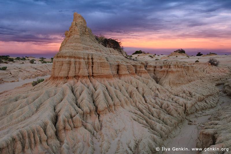 landscapes stock photography   Sunset at The Walls of China, Mungo National Park, NSW, Australia, Image ID AU-MUNGO-0022