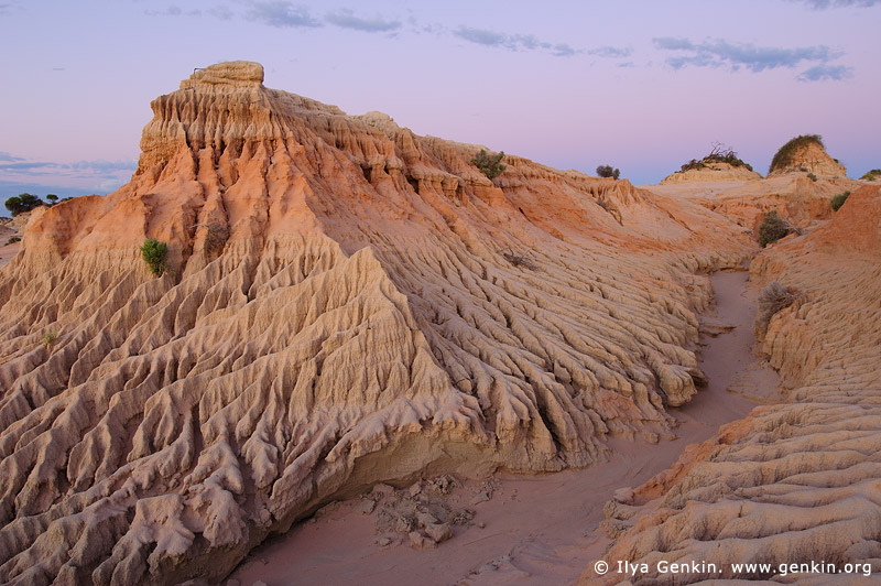 landscapes stock photography | Pastel Colours of Twilight at The Walls of China, Mungo National Park, NSW, Australia, Image ID AU-MUNGO-0027