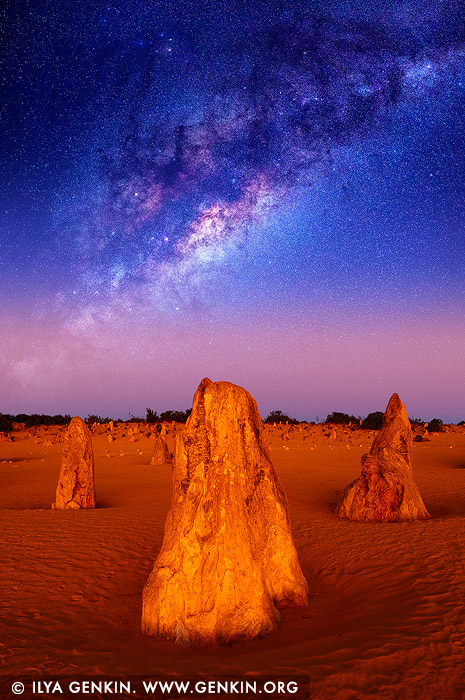 Milky Way Over The Pinnacles Desert, Nambung National Park, Western Australia, Australia