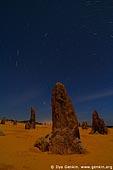 landscapes stock photography | The Pinnacles and Star Trails, Nambung National Park, WA, Australia, Image ID AU-WA-PINNACLES-0006.