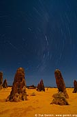 landscapes stock photography | The Pinnacles and Star Trails, Nambung National Park, WA, Australia, Image ID AU-WA-PINNACLES-0007.