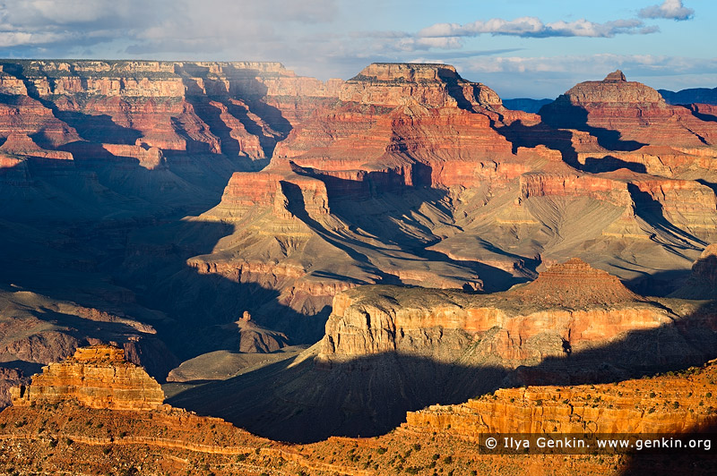 landscapes stock photography | Wotan's Throne and Vishnu Temple from Mather Point at Sunset, South Rim, Grand Canyon, Arizona, USA, Image ID GRAND-CANYON-ARIZONA-US-0001