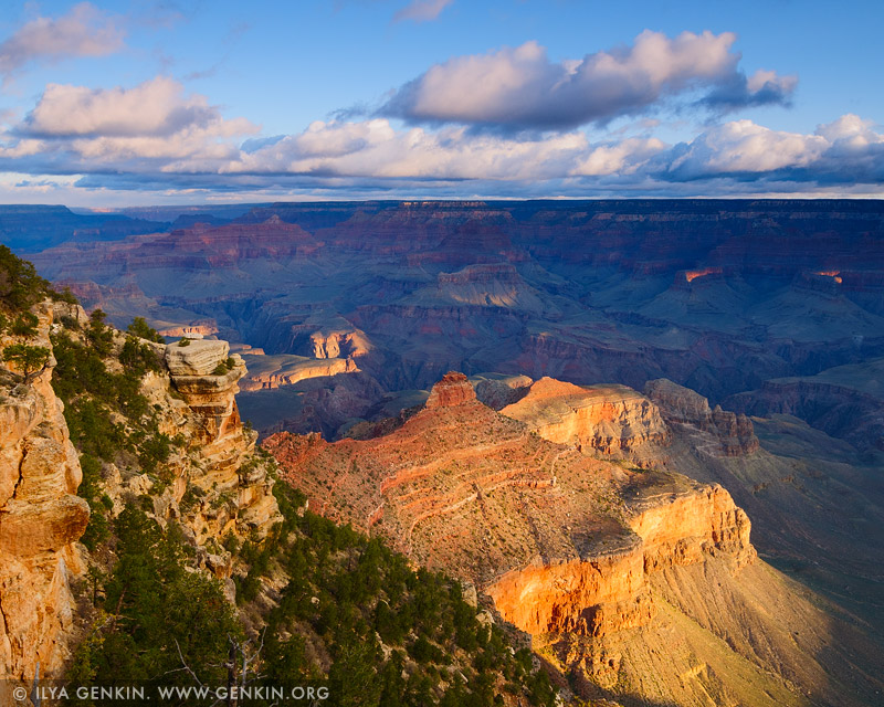 landscapes stock photography | Grand Canyon from Yaki Point at Sunrise, South Rim, Grand Canyon, Arizona, USA
