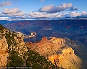 landscapes stock photography | Grand Canyon from Yaki Point at Sunrise, South Rim, Grand Canyon, Arizona, USA, Image ID GRAND-CANYON-ARIZONA-US-0006. While Mather Point is unquestionably the most popular spot for sunrise in Grand Canyon National Park, I found Yaki Point to be uncrowded and, arguably, superior. It's only accessible by shuttle bus so make sure you check the schedule if it is on your to do list. Yaki Point provides views of Bright Angel Trail, Tonto Trail and closer still, South Kaibab Trail. It was named after the Yaqui Indian tribe slaughtered in the early part of the last century.