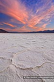 landscapes stock photography | Sunset at Badwater, Death Valley, California, USA, Image ID US-DEATH-VALLEY-0001. Vivid sunset above the dried salt flats of Badwater Basin in Death Valley National Park, Nevada, USA.