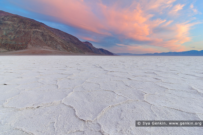 landscapes stock photography | Badwater Sunset, Death Valley, California, USA, Image ID US-DEATH-VALLEY-0007