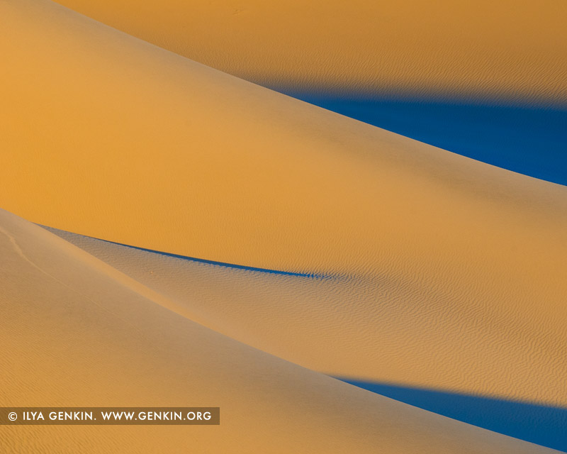 landscapes stock photography | Sunrise at Mesquite Flat Sand Dunes, Death Valley, California, USA, Image ID US-DEATH-VALLEY-0011