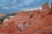 landscapes stock photography | Sunset Point at Dusk, Bryce Canyon National Park, Utah, USA, Image ID US-BRYCE-CANYON-0008. Stormy clouds above Bryce Canyon near Sunset Point at dusk in Utah, USA.